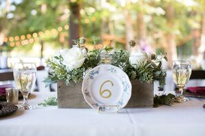 Vintage Plate Table Numbers