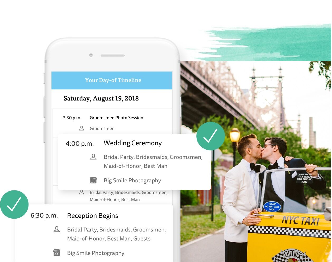 Your Wedding Timeline on The Knot App