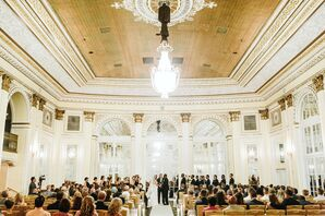Elegant Ceremony in the Pantlind Ballroom at Amway Grand Plaza
