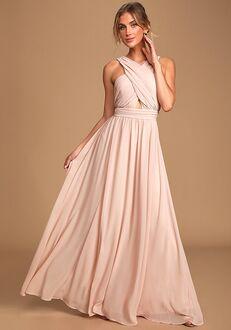 Lulus Divine Inspiration Blush Halter Maxi Dress Halter Bridesmaid Dress