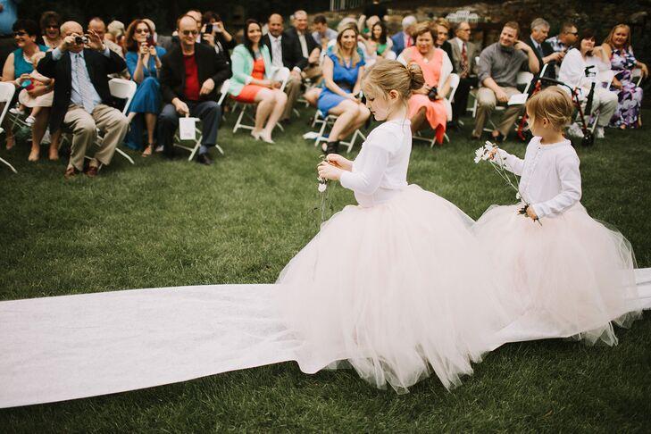 White Flower Girl Tulle Dresses
