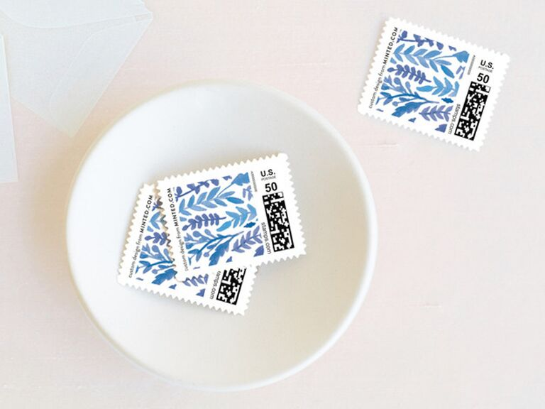 China pattern custom stamps 20th anniversary gift