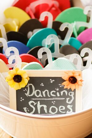 Colorful Flip-Flop Wedding Favors