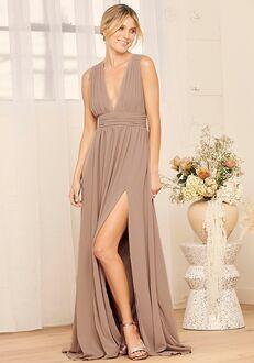 Lulus Heavenly Hues Taupe Maxi Dress V-Neck Bridesmaid Dress