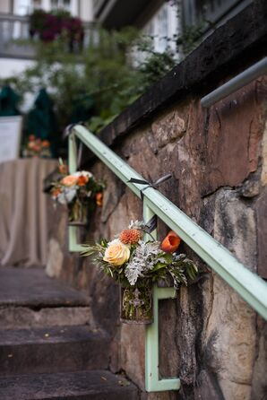 Romantic Hanging Fall Floral Arrangements