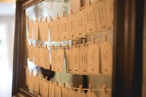 DIY Place Cards Hung From Twine