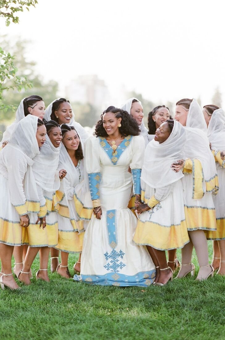 Wedding Party in Traditional Eritrean Attire