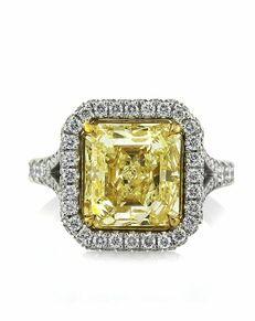 Mark Broumand Glamorous Asscher Cut Engagement Ring