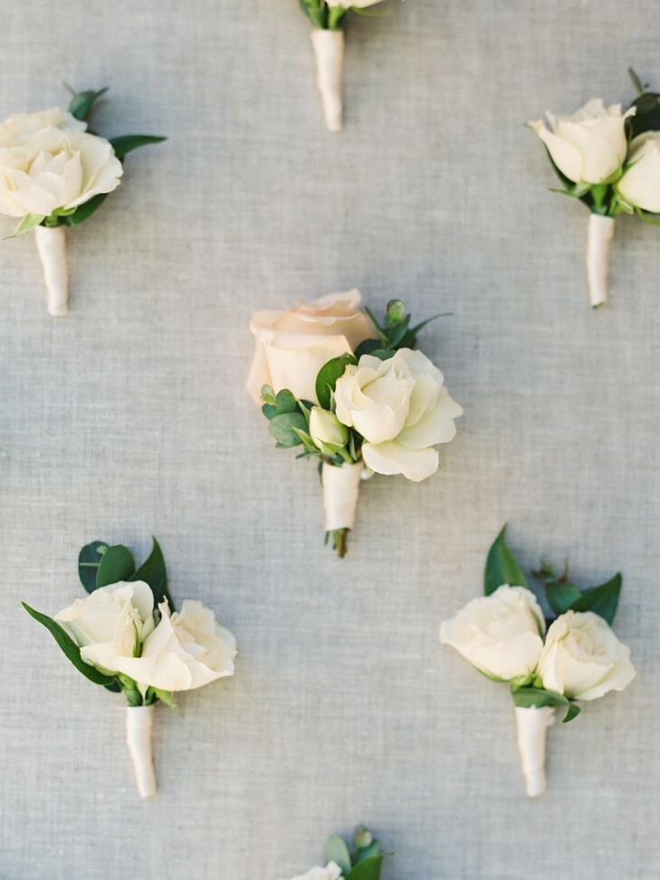 Simple Boutonnieres for Wedding in California
