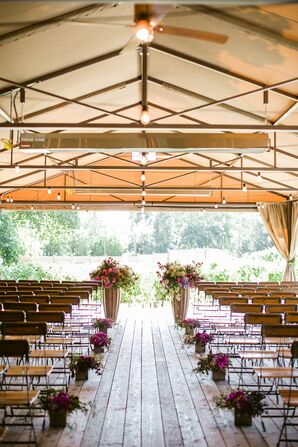 Rustic Elegant Pavilion Ceremony at Calistoga Ranch
