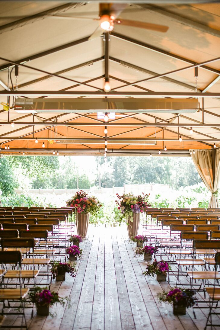 Rustic Elegant Pavilion Ceremony at Calistoga Ranch