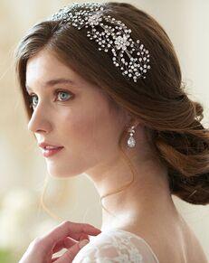 Dareth Colburn Floral Couture Headband (TI-3228) Silver Headband