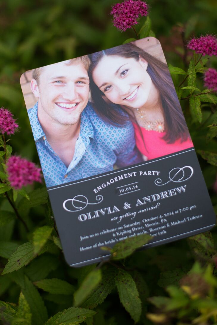 Olivia and Andrew sent misleading invitations to trick guests into thinking they were attending an engagement party rather  than a wedding.