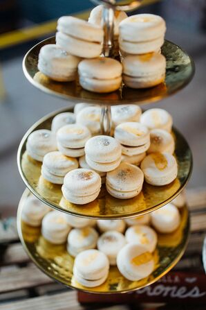 Copper-Dusted Macarons