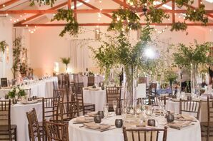 Reception with Greenery and Wooden Chiavari Chairs