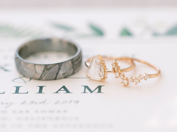 Engagement and Wedding Rings for California Wedding
