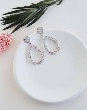 Dareth Colburn Celine CZ Drop Earrings (JE-4177) Wedding Earring photo