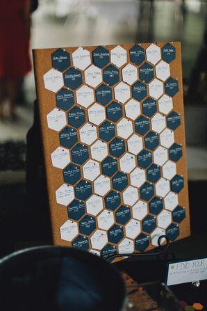 DIY Hexagon-Shaped Escort Cards