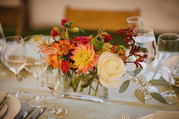 Rustic Fall Floral Centerpiece with Roses