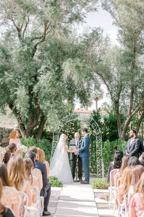 Romantic Outdoor Ceremony at The Frederick Loewe Estate in Palm Springs, California
