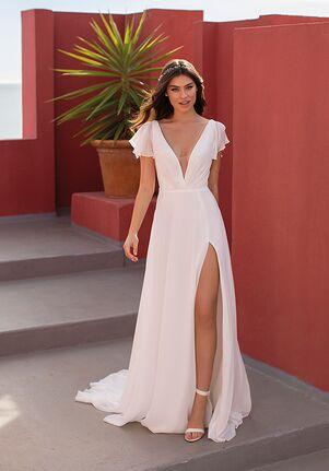 WHITE ONE ESSENTIALS SPRING A-Line Wedding Dress