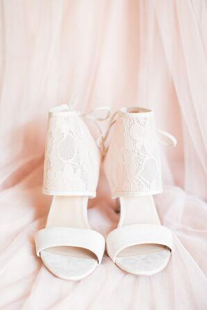 Modern White Bridal Shoes