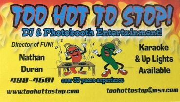 Too Hot to Stop DJ & Photo Booth Entertainment