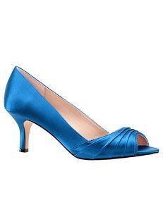 Nina Bridal Chezare_Caribbean Blue-Satin Black, Ivory, Pink, Red, Silver Shoe