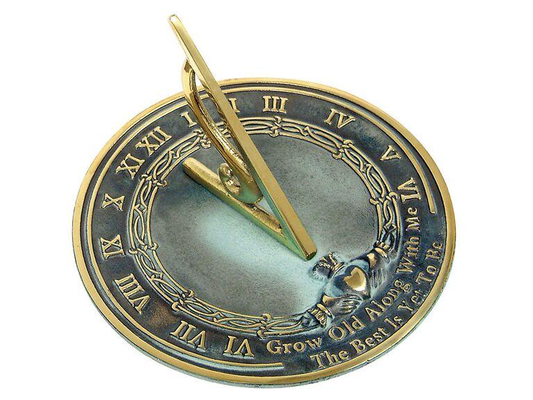 Love quote sundial one year anniversary gift