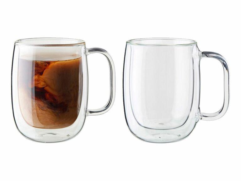 double wall coffee mugs set of two