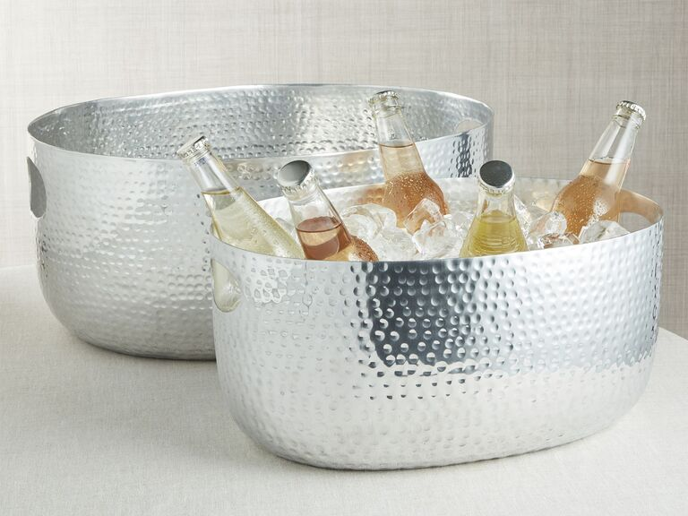 Silver beverage tub 16th anniversary gift