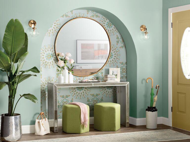 modern pastel entryway from wayfair