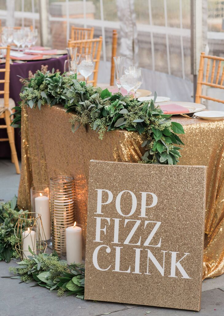 Glam Gold Sweetheart Table and Sign