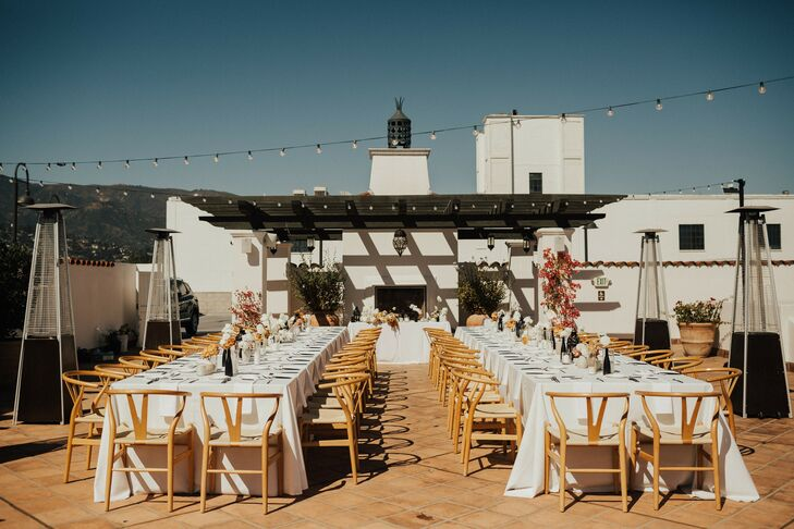 Rooftop Reception at Hotel Californian in Santa Barbara, California
