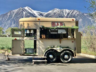 100 Proof Bar Service, Beer Burros, Vintage Trailer bar