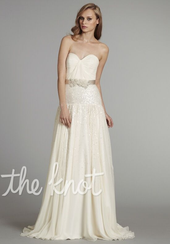 Hayley paige 6263 wedding dress the knot for The knot gift registry