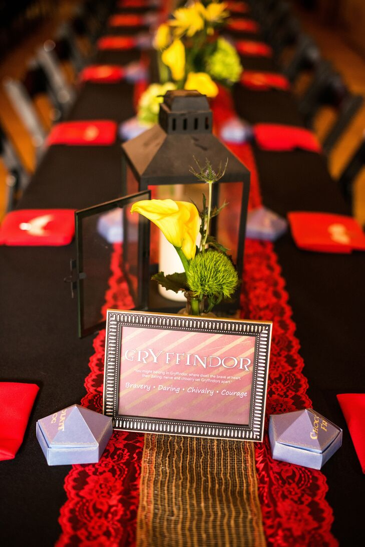 Gryffindor-Themed Table Décor