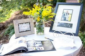 Photo Album Guest Book Table