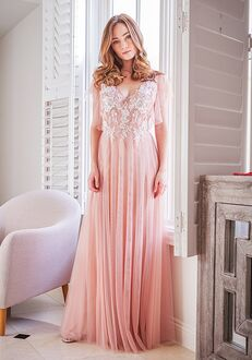 Belsoie Bridesmaids by Jasmine L224055 V-Neck Bridesmaid Dress