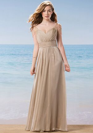 Belsoie Bridesmaids by Jasmine L184009 V-Neck Bridesmaid Dress