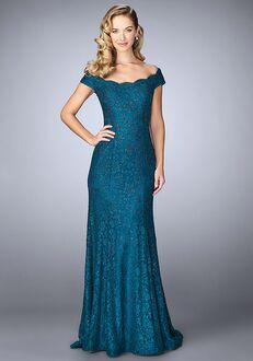 La Femme Evening 24928 Blue Mother Of The Bride Dress