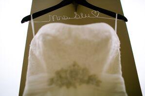 Strapless Wedding Dress with Crystal Sash