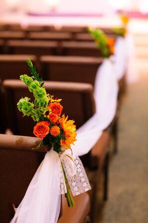 Orange and Green Floral Arrangement