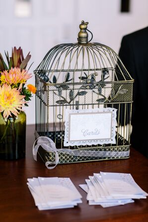 Birdcage Decor at Reception