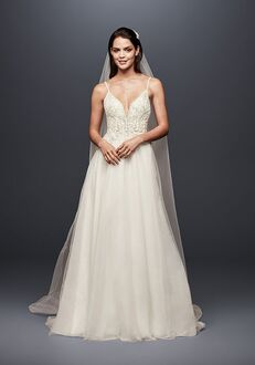 David's Bridal Galina Signature Style SWG784 A-Line Wedding Dress