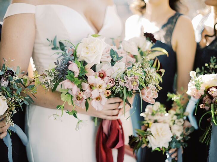 Bold Bouquet at North Carolina Wedding at The Merrimon-Wynne House