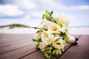 White Rose, Garden Rose Bridal Bouquet
