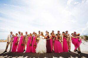 Jasmine Bridal Fuchsia Bridesmaid Dresses