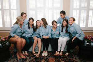 Monogrammed Bridesmaid Shirts