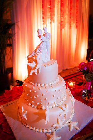 Beach Themed Sea Star Wedding Cake
